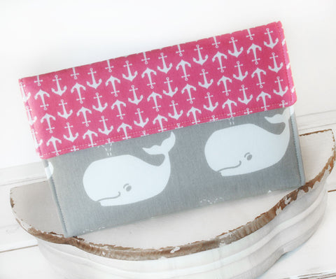 Whales and Anchors, Nautical Case| iPad Case|Tablet Sleeve|Kindle Case|Laptop Cover or Macbook Case - Oh! Koey