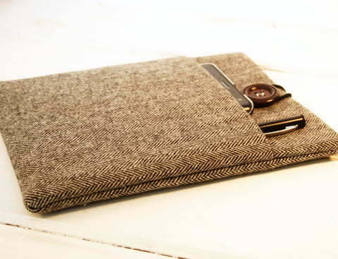 Grey and Black Herringbone Unisex/Mens iPad & Tablet Case or Macbook & Laptop Case - Oh! Koey