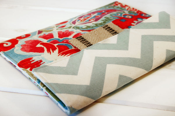 Garden Path iPad Case|Tablet Case|Laptop Case|Macbook Case with Ocean Blue Chevron - Oh! Koey