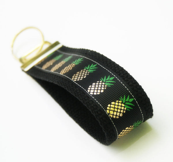 Pineapple Party!  Key Fob, KeyRing, Flamingo KeyChain, wristlet key ring , Gifts for Teachers - Oh! Koey