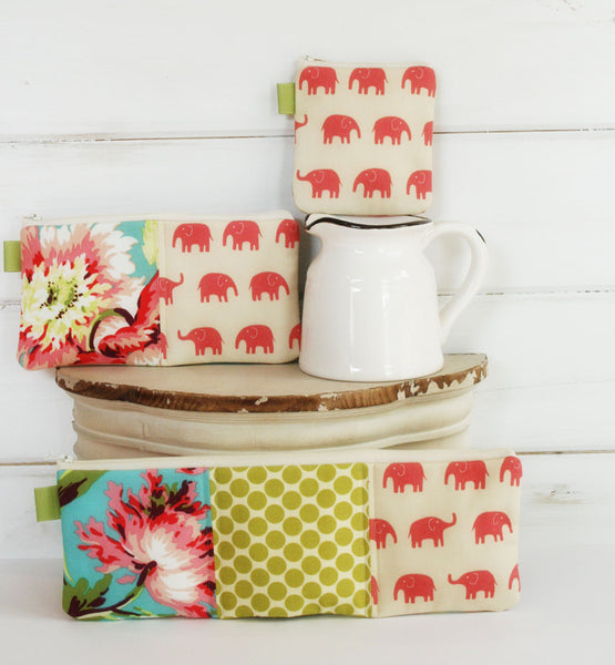 Hawaiian Flowers and Elephants Charger Cord Cubbies - Oh! Koey