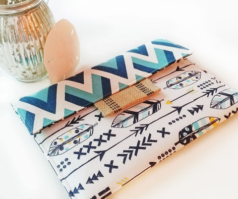 Macbook Case, iPad Case and Kindle Case with Chevron and Fabulous Feathers - Oh! Koey