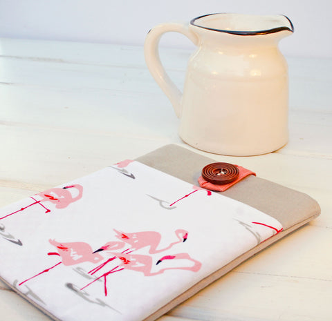 Flirty Flamingo iPad Case, Macbook Case, Laptop Case, and Tablet Case