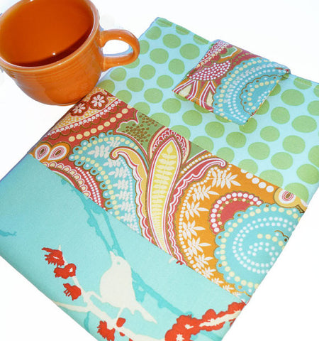 SAMPLE SALE Nook Simple Touch or Kindle Sleeve in Summer Breeze - Oh! Koey