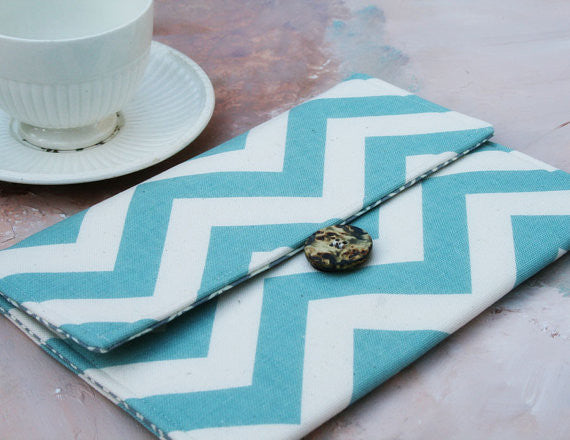 SAMPLE SALE Kindle Blue Chevron Case - Oh! Koey