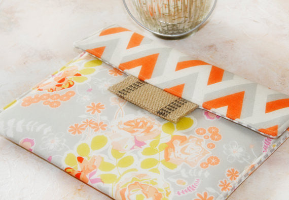 SAMPLE SALE Sweet Sorbet iPad/Tablet Case with Chevron Accent - Oh! Koey