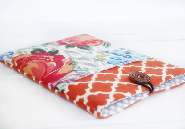 Rosy Posey Pink and Orange iPad & Tablet Case or Macbook & Laptop Case - Oh! Koey