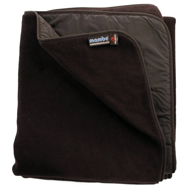 Black Mambe Extreme Weather Outdoor Blanket for cold weather and stadium use.