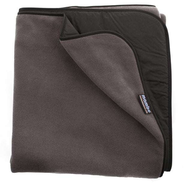 Charcoal Grey Mambe Extreme Weather Outdoor Blanket for cold weather and stadium use.