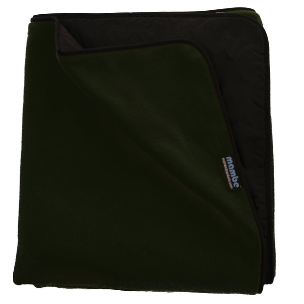 Forest Green Mambe Extreme Weather Outdoor Blanket for cold weather and stadium use.