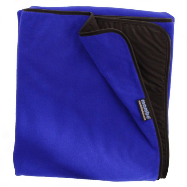 Royal Blue Mambe Extreme Weather Outdoor Blanket for cold weather and stadium use.