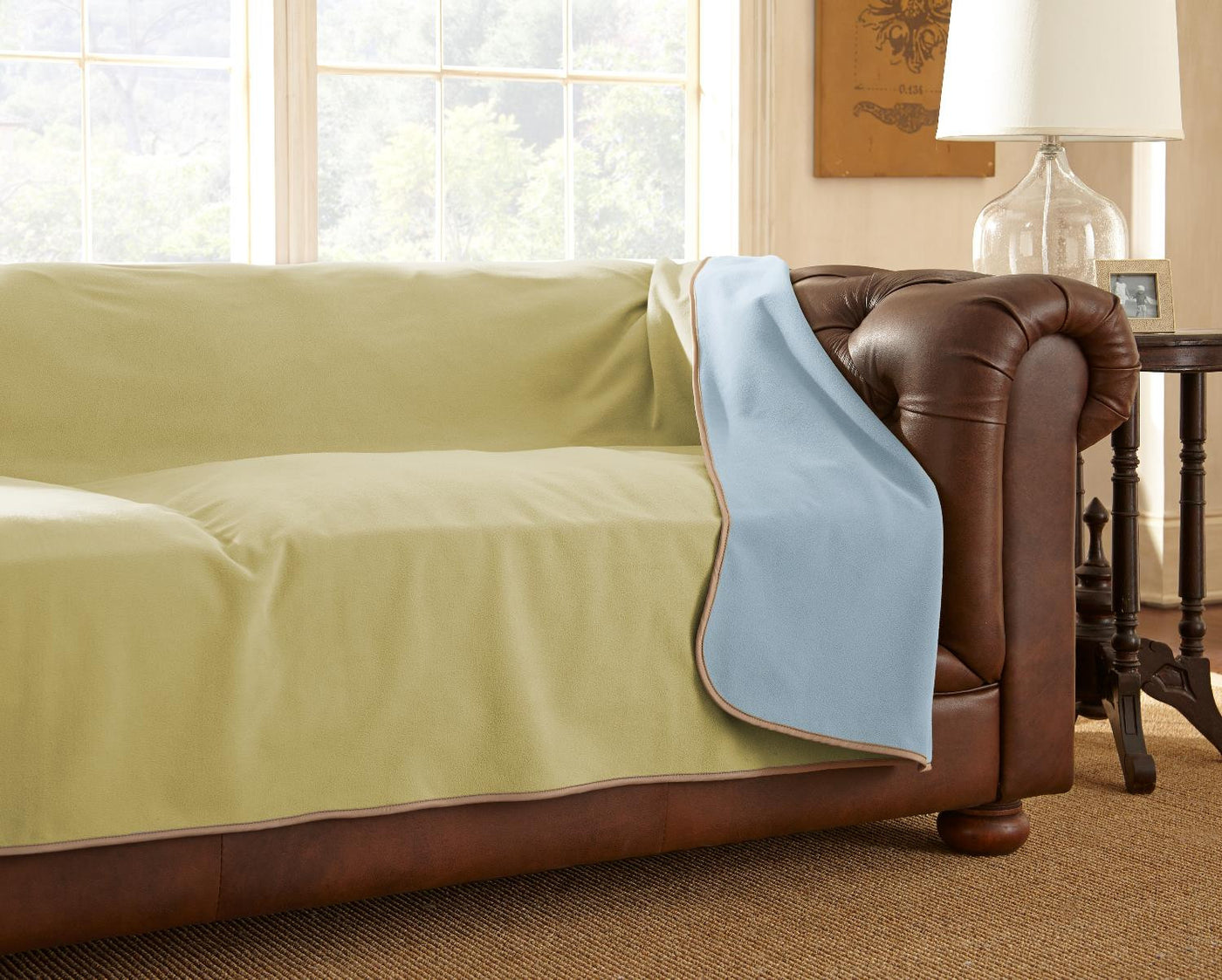 Bamboo skyblue waterproof fleece Mambe Furniture Cover