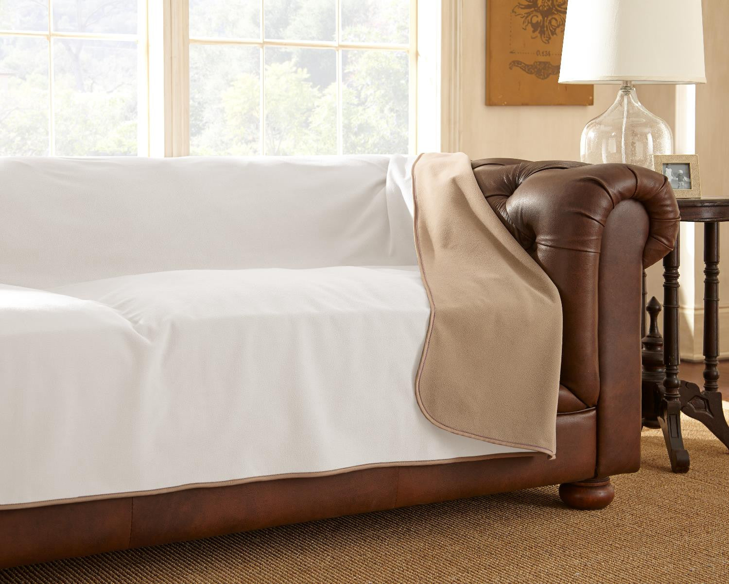 Clearance   Furniture Cover Buff/Camel