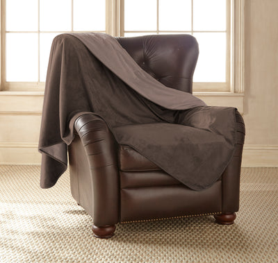 Clearance - Silky Waterproof Throw CHOCOLATE/CAPPUCCINO