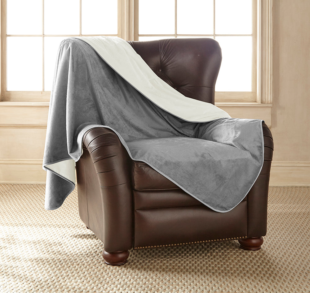 Clearance - Silky Waterproof Throw DOVE/BUFF