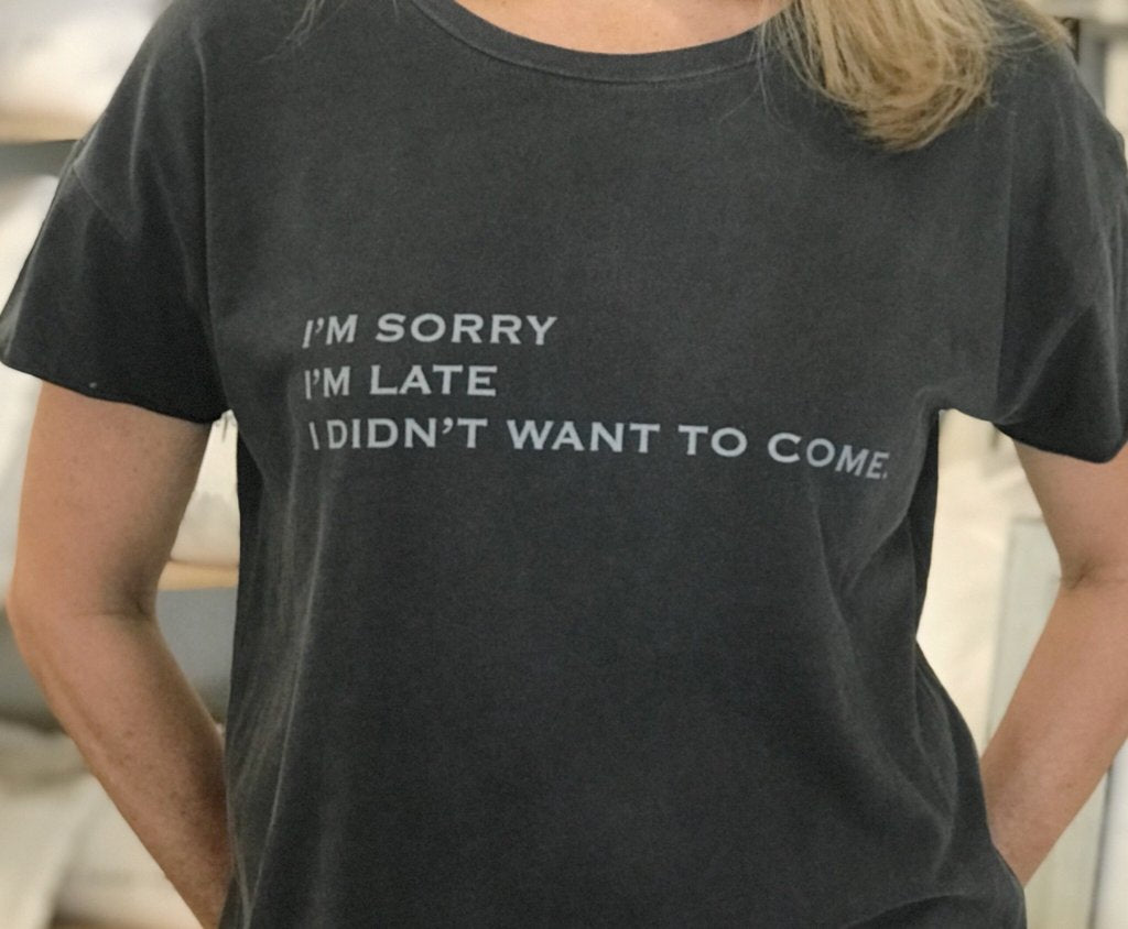 I'm sorry I'm late, I didn't want to come - TEE010