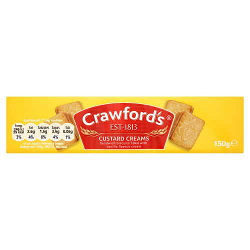 Crawfords Custard Creams 150g
