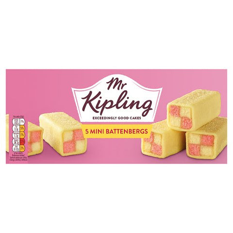 Mr Kiplings Mini Battenbergs 5 Pack
