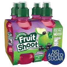 Robinsons Apple & Blackcurrant Fruit Shoots - No Added Sugar  (4 x 200ml).
