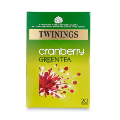 Twinings Cranberry Green Tea, Tea Bags 20's  40g