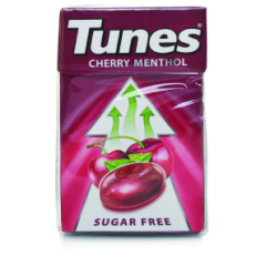 Tunes Cherry Menthol Flavour - Sugar Free  37g