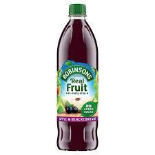 Robinsons No Added Sugar Apple & Blackcurrant 1 Ltr