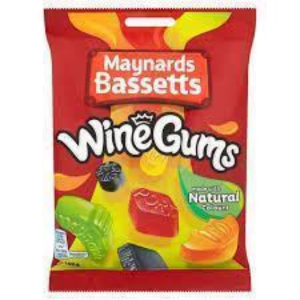 Maynards Bassetts Wine Gums Bag 190g