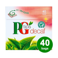 PG Tips 40's Decaf Pack 116g
