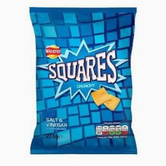 Walkers Squares Salt & Vinegar 27.5g