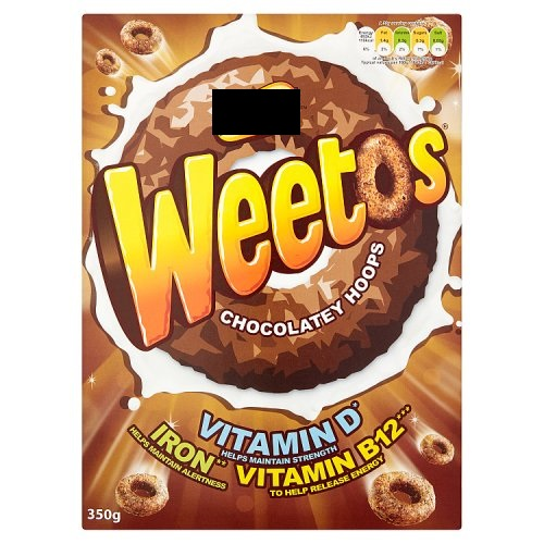 W*****ix Weetos Chocolate Hoops 350gms
