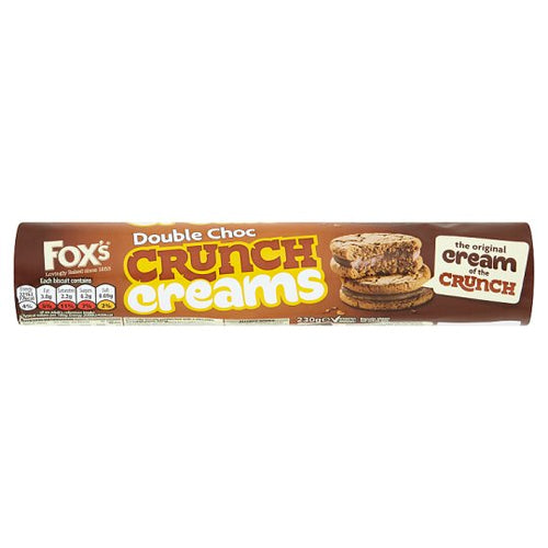 Fox's Double Choc Crunch Creams Biscuits 230g