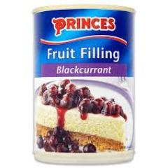 Princes Fruit Filling - Blackcurrant 410gm