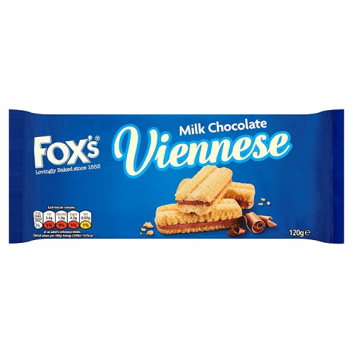 Fox's Viennese - Milk Chocolate Biscuits 120g