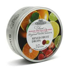 Simpkins Sugar Free Mixed Fruit Drops Tin 175g
