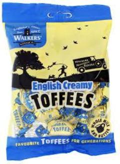 Walkers English Toffee Bag 150g