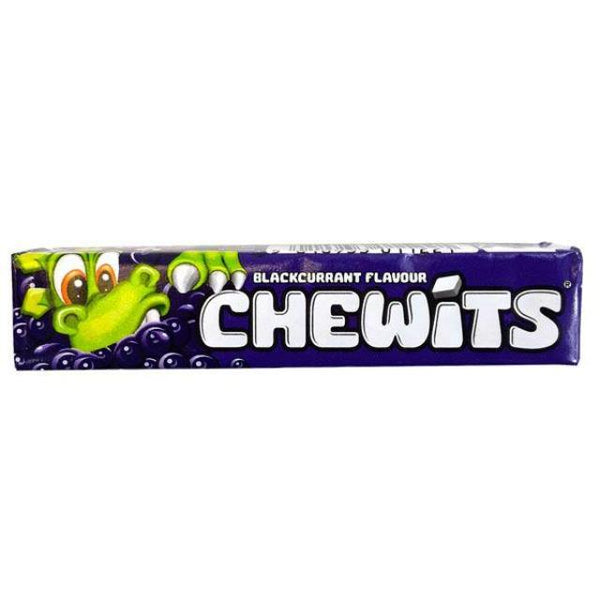 Chewits Blackcurrant Flavour Single Rolls 30g