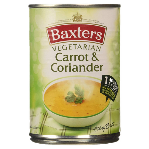 Baxters Vegetarian Single Tin Carrot & Coriander Soup 400g