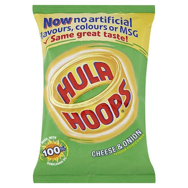 KP Cheese & Onion Hula Hoops 34g