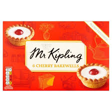 Mr Kiplings Cherry Bakewell Tarts 6 pack 360g