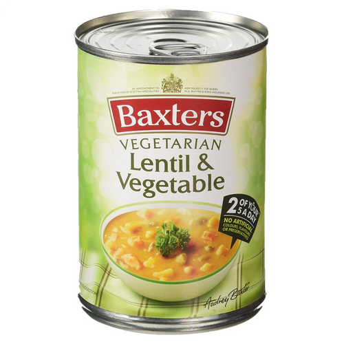 Baxters Vegetarian Single Tin Lentil & Vegetable Soup 400g