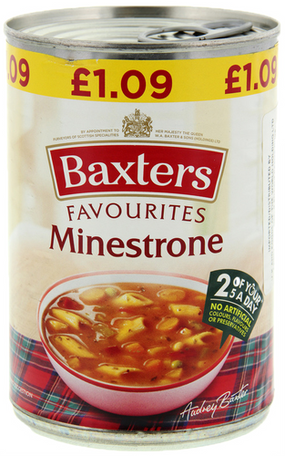 Baxters Favourites Single Tin Minestrone Soup 400g
