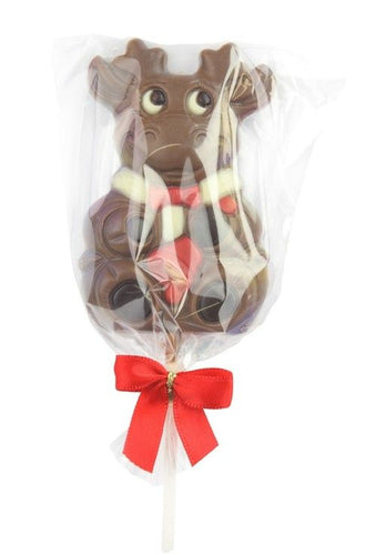 Co-op Rudolf & Snowman Decorated Chocolate Lolly 35g
