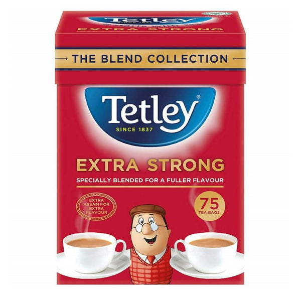 Tetley Extra Strong Tea Bags  75 pack  250g