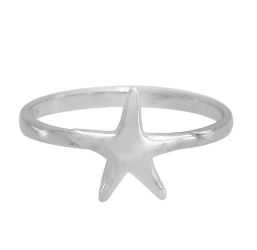 Rhodium Starfish Ring