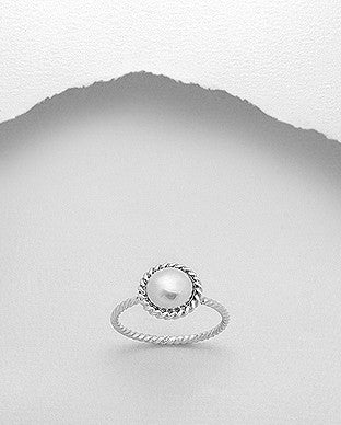 Circle Stackable Sterling Silver Ring