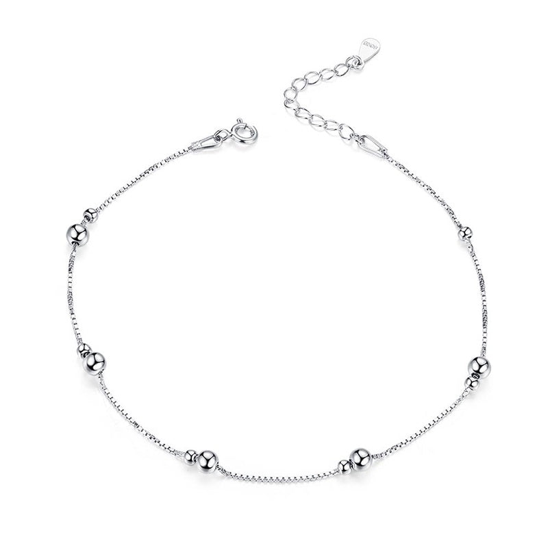 Bead and Box Chain Anklet