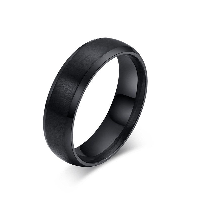 Brushed Stainless Steel Ring 6mm