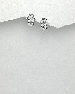 Hamsa Post Earrings