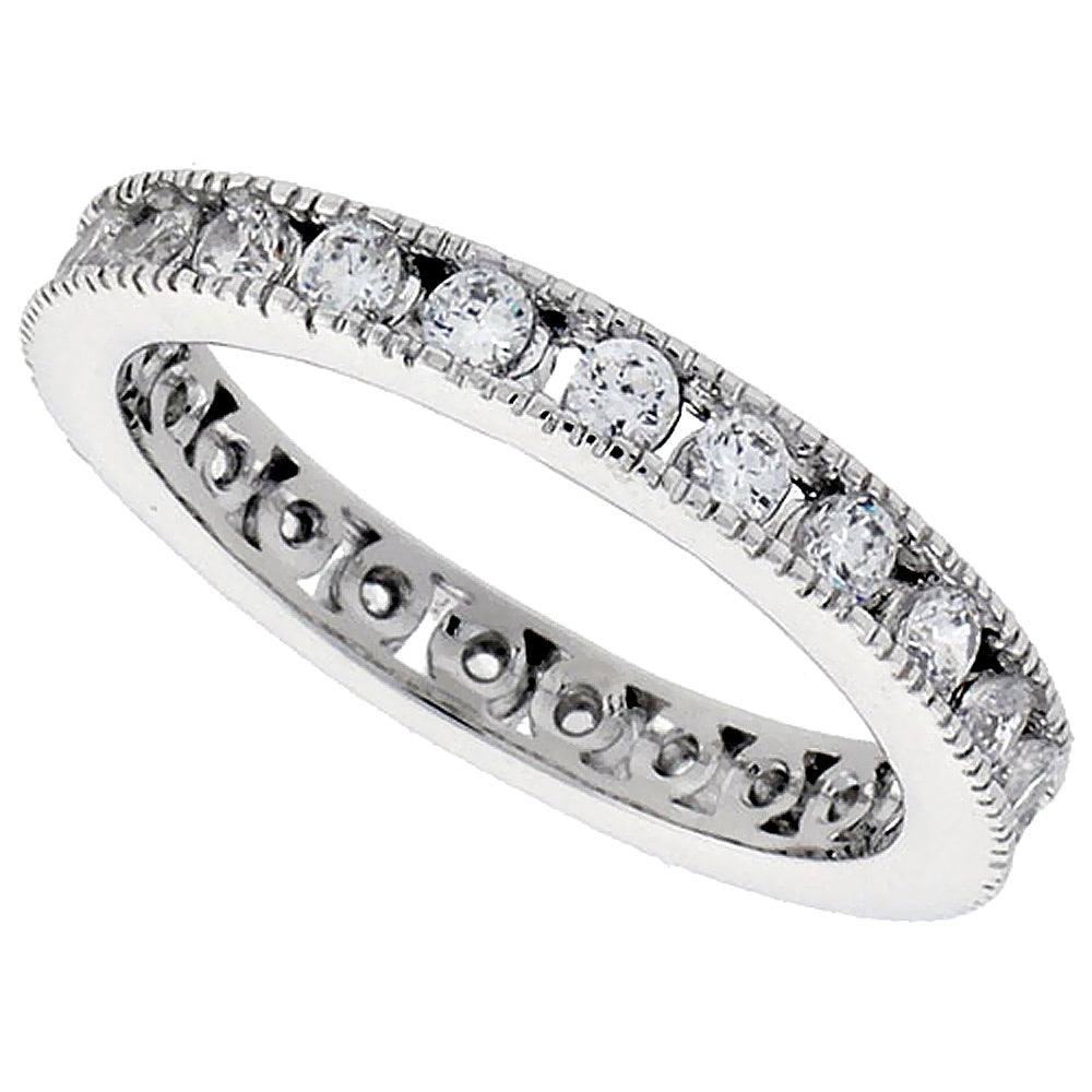 Channel 2mm CZ Eternity Ring