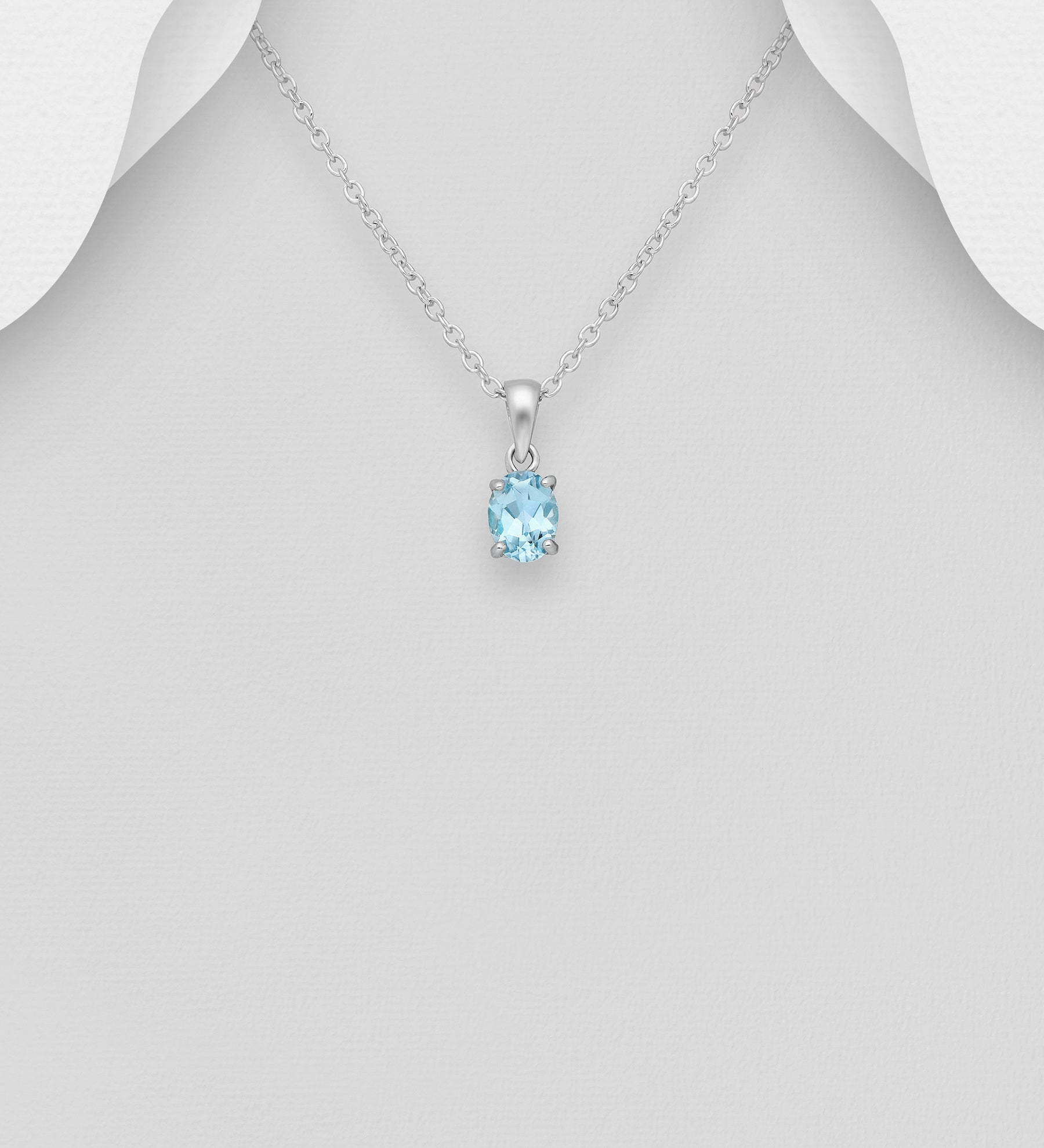 Topaz Solitaire Necklace